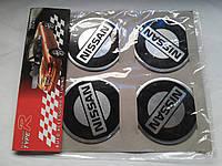 Наклейки на заглушки литых дисков (колпачки) с логотипом nissan (ниссан)
