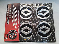 Наклейки на заглушки литых дисков (колпачки) с логотипом renault (рено)