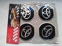 Наклейки на заглушки литых дисков (колпачки) с логотипом toyota (тойота)