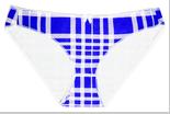 """Трусики мини бикини женские """"Ego"""" GF 09(099) ( 2 шт в уп) Must Have цвет бело-синий"""