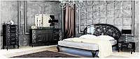 Спальня Піонія глянець чорний-срібло МіроМарк /Poinia MiroMark/ Спальный гарнитур Пиония МироМарк