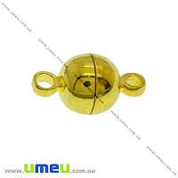 Замок магнитный, 12х6 мм, Золото, 1 шт (ZAM-012753)