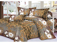 Полуторное постельное белье 3Д Микросатин Golden night