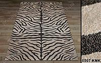 Синтетический ковер Tibet зебра бежевый с коричневым