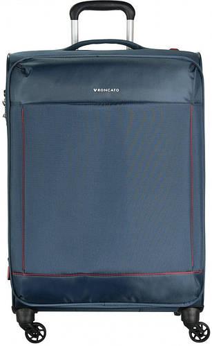 Дорожный практичный чемодан-гигант 115/130 л. на 4-х колесах Roncato Connection 4161/88 темно-синий