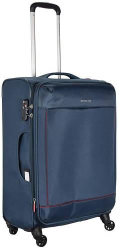 Тканевый качественный чемодан на 4-х колесах 70/80 л. Roncato Connection 4162/23 темно-синий