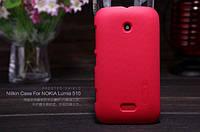 Чехол Nillkin для Nokia Lumia 510 красный (+пленка)