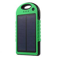 Внешний аккумулятор на солнечной энергии Solar 12000 mAh зеленый
