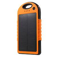 Внешний аккумулятор на солнечной энергии Solar 12000 mAh оранжевый