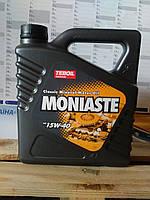 Моторное минеральное масло Teboil Moniaste 15W-40 (4л.) для автомобилей прежних лет выпуска