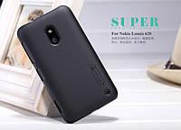 Чехол Nillkin для Nokia Lumia 620 чёрный (+пленка)