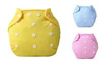 Многоразовый детский подгузник летний 3-13 кг с вкладышами 2шт