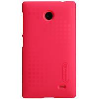Чехол Nillkin для Nokia X красный (+пленка)