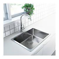 Мойка кухонная врезная IKEA Bredskar 440 мм х 540 мм