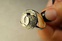 Красивое женское серебряное кольцо с золотом