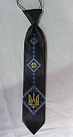 Детский галстук с вышивкой для мальчиков