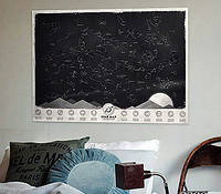"""Светящаяся карта звездного неба """"Через тернии к звездам"""""""