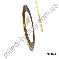 Самоклеящаяся лента для дизайна ногтей (0.8 мм) - золото