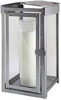 Фонарь металлический 1шт, цвет серебрянный  для открытого пространства