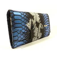 Кожаный женский кошелек Desisan 128 синий, расцветки в наличии