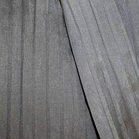 Портьера тафта плиссе параллель одн. серый