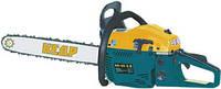 Пила цепная бензиновая (бензопила) КЕДР БП-45-3.0 (2ш+2ц)