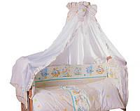 Хлопковое постельное бельё для детской кроватки Мышка с сыром 8 ед