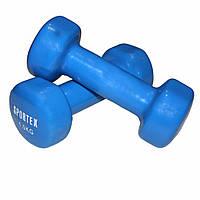 Гантели виниловые для фитнеса 2 шт по 1,5кг
