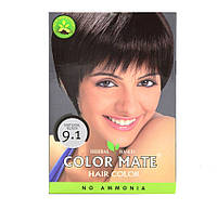 Краска на основе хны Color Mate Hair Color тон 9.1 натуральный чёрный, 5*15гр