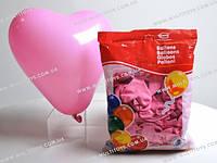 Шарики воздушные Сердце пастель розовое