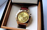 Часы наручные мужские Rolex Daytona коричневое золото, часы физрука