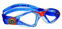 Детские очки для плавания Aqua Sphere Kayenne Junior, clear lens blue/orange