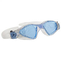 Силиконовые очки Aqua Sphere Kayenne Lady, blue lens glitter/powder blue