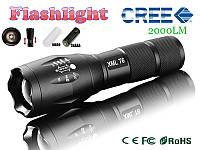 Фонарь походный UltraFire CREE XM-L T6 2000 Люмен универсальный компактный мощный светодиодный с зумом E17 Lum