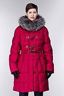Женское полу-пальто с богатым натуральным мехом ,модный дифелькот