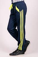 Детские спортивные трикотажные брюки (темно-синие)