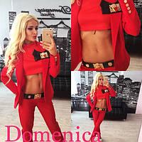 Женский модный костюм Moschino (расцветки) (размеры 42-58)