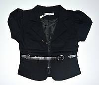 Пиджак для девочки. Школьный. Чёрный. 122-152