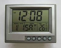 Часы для дома/офиса GH039E, индикация текущего времени/даты/температуры воздуха, работают от 2х батареек
