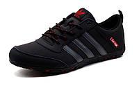 Кроссовки Adidas DAROGA мужские, черные, PU кожа, фото 1