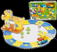 """Игровой набор City Engineering - Гараж для машин """"Robocar Poli"""" """"Робокар Поли"""" с 1 машинкой Дампо (грузовик)"""