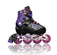 Роликовые коньки раздвижные Explore REKON (31-34) фиолетовый