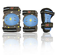 Комплект защитного снаряжения RACER S-M (голубой)