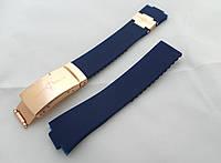 Ремешок синий к часам Ulysse Nardin женский, универсальный комплект, застежка