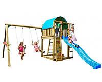 Детская игровая площадка с качелями Jungle Gym Villa  (горка, песочница, качели, домик, Украина)