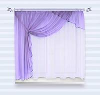 Красивый комплект занавесок для кухни Александра Фиолетовый