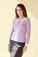 Блузка женская розового цвета с длинным рукавом