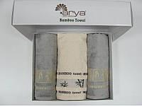 Набор бамбуковых полотенец 3шт. Arya В Коробке 50Х90 (2шт.)-70Х140 (1шт.)  Bonita