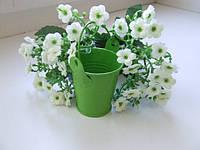 Декоративное ведро, зеленое