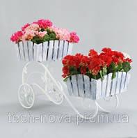 Свадебная подставка для цветов Тачка Свадебная Кантри 2